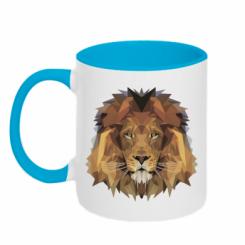 Кружка двокольорова Lion Poly Art