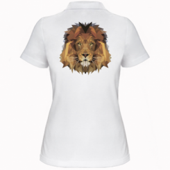 Жіноча футболка поло Lion Poly Art