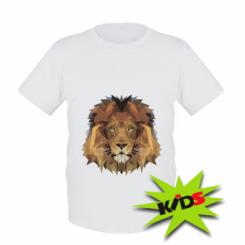 Дитяча футболка Lion Poly Art