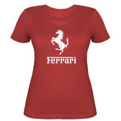 Купити Жіноча футболка логотип Ferrari