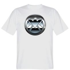 Футболка Логотип Щита Метал