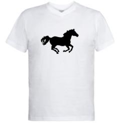 Купити Чоловічі футболки з V-подібним вирізом Конячка