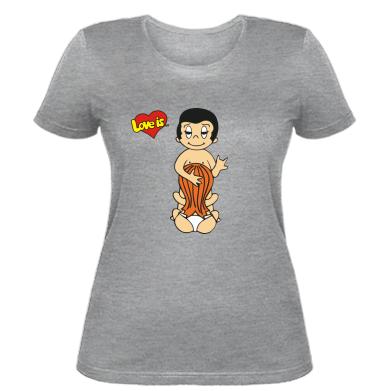 Купити Жіноча футболка Love is... Sex :)