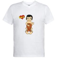 Купити Чоловічі футболки з V-подібним вирізом Love is... Sex :)