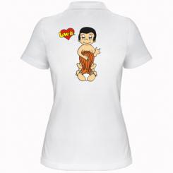 Купити Жіноча футболка поло Love is... Sex :)