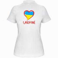 Купити Жіноча футболка поло Love Ukraine