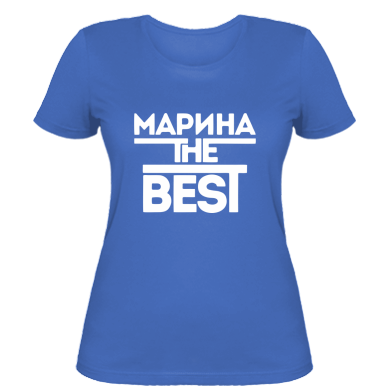 Жіноча футболка Марина кращих