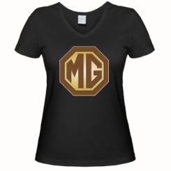 Жіноча футболка з V-подібним вирізом MG Cars