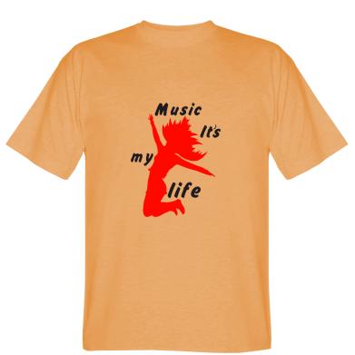 Футболка Music it's my life