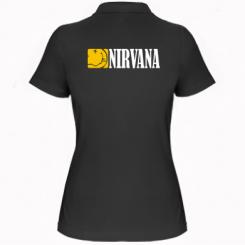 Купити Жіноча футболка поло Nirvana смайл