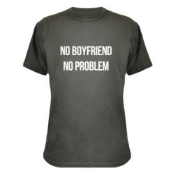 Камуфляжна футболка No boyfriend. No problem