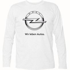 Футболка з довгим рукавом Opel Wir leben Autos