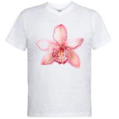 Чоловіча футболка з V-подібним вирізом Орхідея