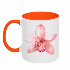 Кружка двокольорова Орхідея
