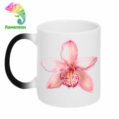 Кружка-хамелеон Орхідея