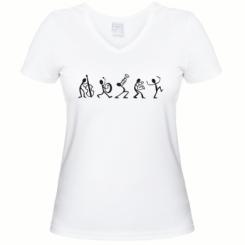 Купити Жіноча футболка з V-подібним вирізом Оркестр