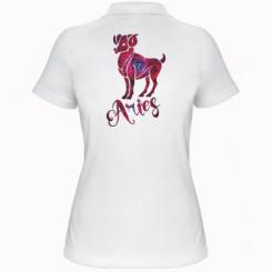 Жіноча футболка поло Овен зірки