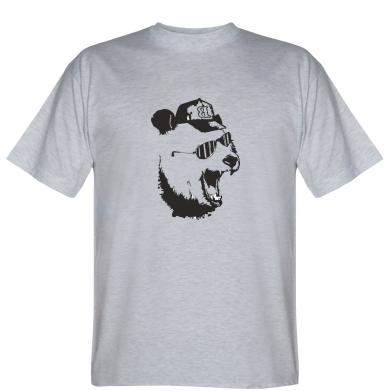 Футболка Панда в кепці і окулярах