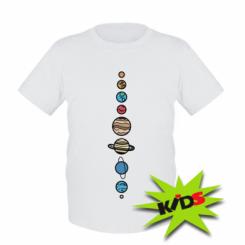 Дитяча футболка Parade of planets