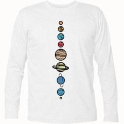 Футболка з довгим рукавом Parade of planets