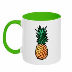Кружка двокольорова Pineapple
