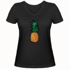 Жіноча футболка з V-подібним вирізом Pineapple