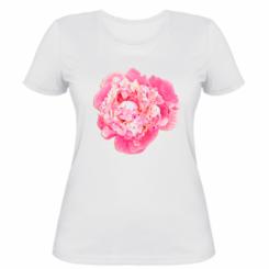 Жіноча футболка Півонія фарби