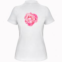 Жіноча футболка поло Півонія фарби