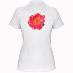 Жіноча футболка поло Півонія