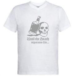 Чоловіча футболка з V-подібним вирізом Поки смерть не розлучить нас