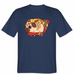 Футболка Pug and pizza
