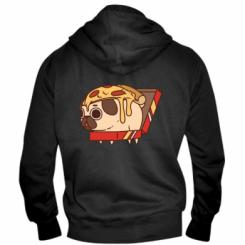 Чоловіча толстовка на блискавці Pug and pizza