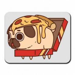 Килимок для миші Pug and pizza