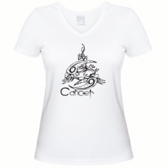 Купити Жіноча футболка з V-подібним вирізом Рак ( Cancer)