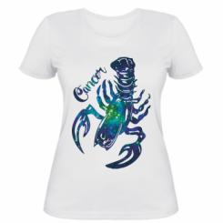 Жіноча футболка Рак зірки
