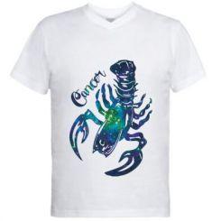 Чоловіча футболка з V-подібним вирізом Рак зірки