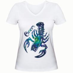 Жіноча футболка з V-подібним вирізом Рак зірки