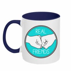 Кружка двокольорова Real Friends
