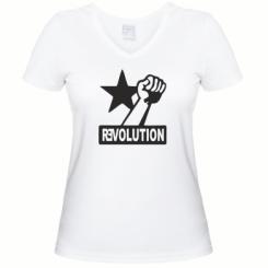 Купити Жіноча футболка з V-подібним вирізом Revolution