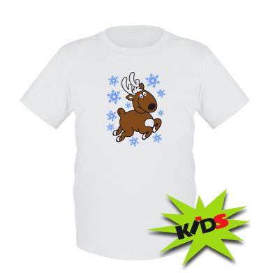 Дитяча футболка Різдвяний оленя