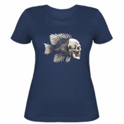 Жіноча футболка Риба-череп