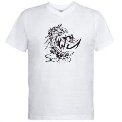 Купити Чоловічі футболки з V-подібним вирізом Scorpio (Скорпіон)