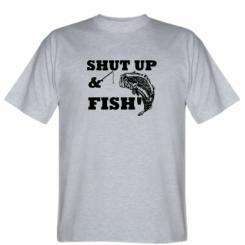 Футболка Shut up and fish