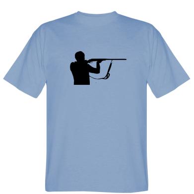 Футболка Силуэт охотника с ружьем