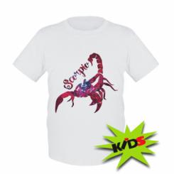 Дитяча футболка Скорпіон зірки