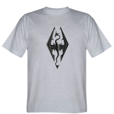 Футболка Skyrim Logo 3D