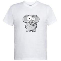 Чоловіча футболка з V-подібним вирізом Слон окатий