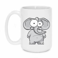 Кружка 420ml Слон окатий