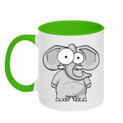 Кружка двокольорова Слон окатий