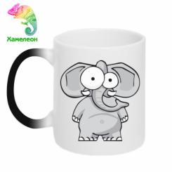 Кружка-хамелеон Слон окатий